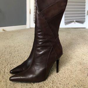 """4.5"""" Brown Stiletto Aldo Boots"""